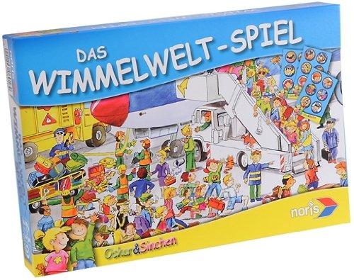 Noris 606016916 - Oscar & Sinchen: Das Wimmelwelt-Spiel