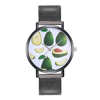 Amazon.com: Ladies Watch WoCoo Fashion Analog Quartz Avocado Dial Wrist Watch with Leather Strap Watches Gifts Reloj de DAMA (Black): Kitchen & Dining