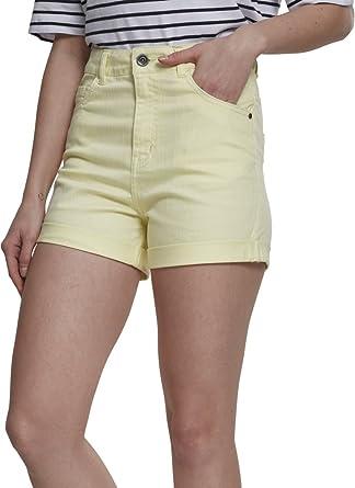Urban Classics Damen High-Waist Shorts - Ladies Stretch Twill Hot Pants   Amazon.de  Bekleidung 0ad687d111