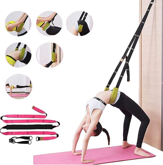 N//G Yoga Stretch Assist Strap Rehab Splits Improve Leg Waist and Back Flexibilit Yoga Fitness Stretching Strap for Yoga Pilates Dance Pilates Gymnastics Cheerleading Ballet