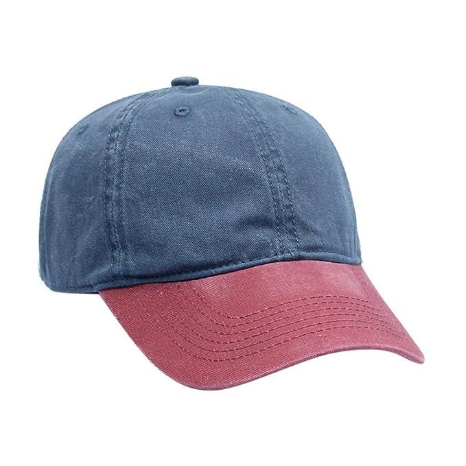 ... Patchwork Twill Gorra Algodón Ocasional De Béisbol Vintage Ajustable  Sombrero De Papá Gorras (Color   B fe84674c194
