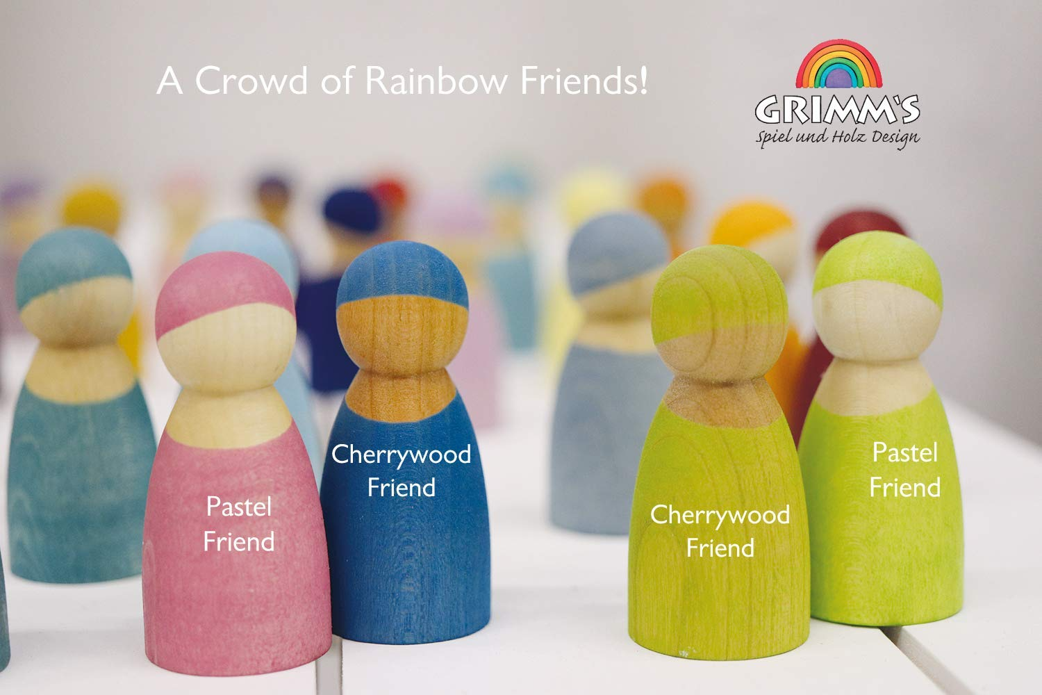 Cherry Wood Special Edition Grimms 12 Rainbow Friends
