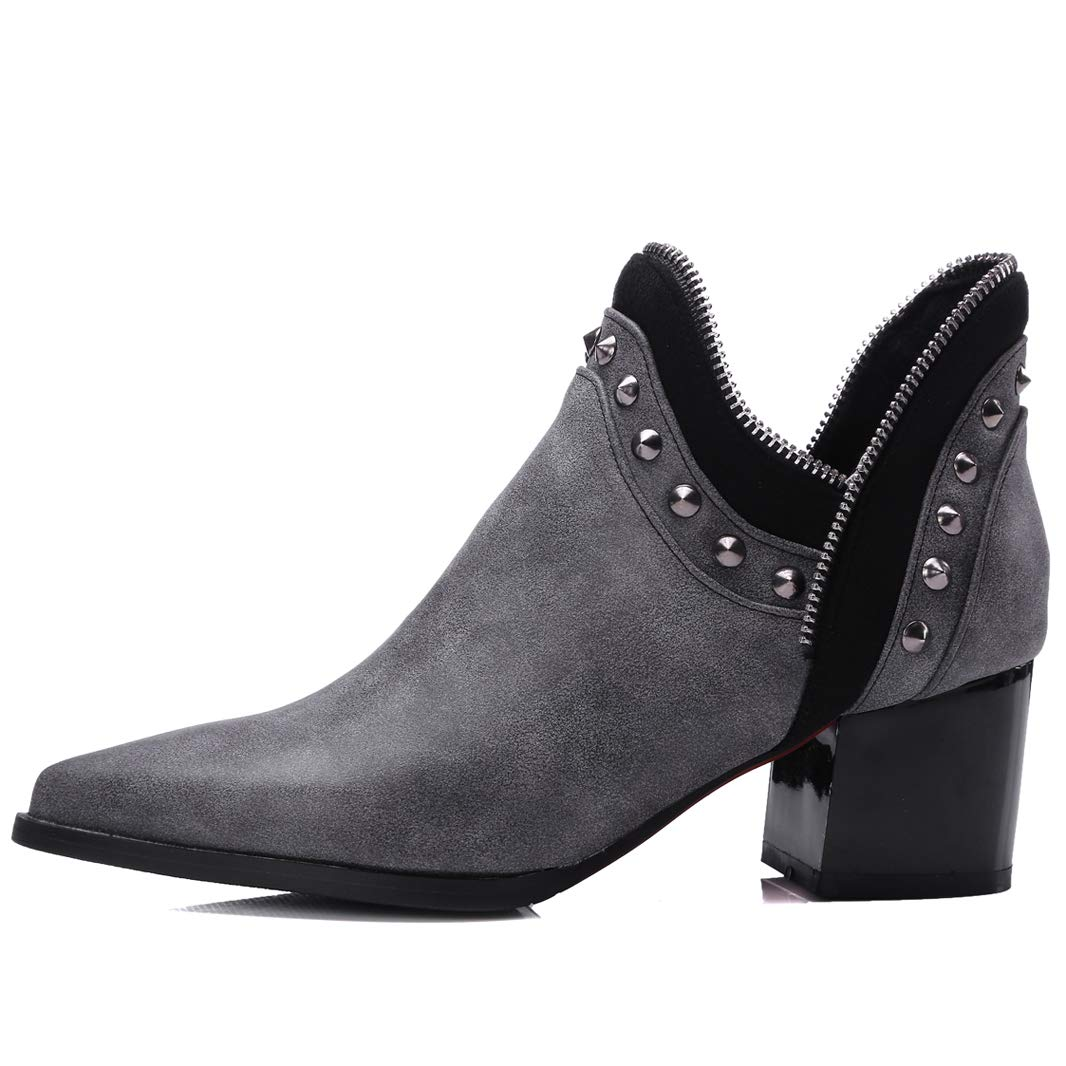 Mavirs cm Womens Maunit Block Heel Ankle-high 5.5 cm Mavirs Boots B07GLT236V Boots 6008d8