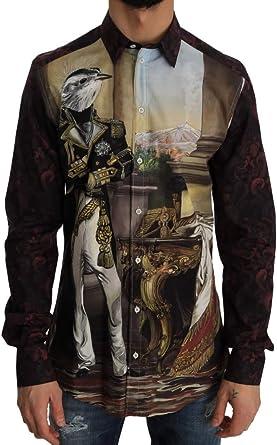 Dolce & Gabbana - Camisa de seda, color burdeos - Morado - 50 ...