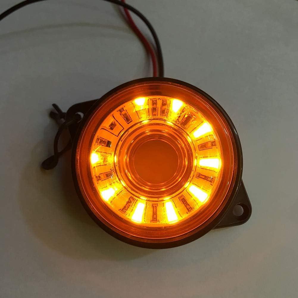 Gcdn 2PCS Seitenblinker Leuchte f/ür Auto Lkw Seitliche Begrenzungsleuchte Lkw Anh/änger Bus Heck Bremslicht Auto Warn Lampe Blinker Universal