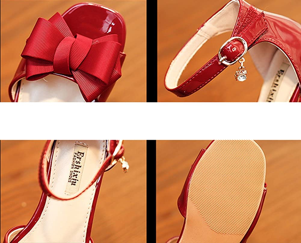 Baviue Leather Outdoor Bowknot Girls Sandles Sandals