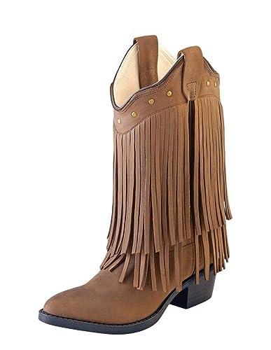 4ee83ee99 Old West Kids Boots Girl's Fringe Boot (Toddler/Little Kid) Brown Boot 1.5