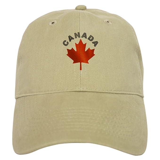 Amazon CafePress Canadian Maple Leaf Cap Baseball Cap with