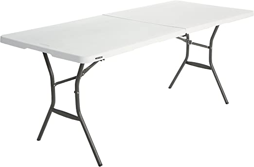 Lifetime Table Pliante Blanc Granite 183 X 76 X 73 6 Cm 80471