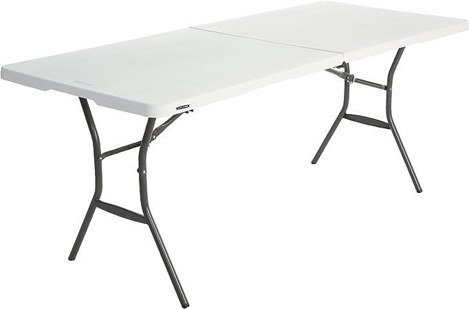 Lifetime 6 Ft//1.83 M Fold In Half Bench White