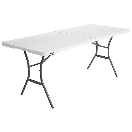 Lifetime - Mesa Plegable Multifuncional, 183x76x74 cm, Blanco, LFT 183 Basic
