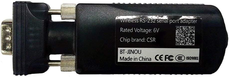 Jinou - Adaptador de Bluetooth 3.0 macho RS232 a Bluetooth clase 2, 10 m, antena integrada DB9 Pin