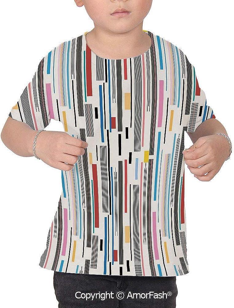 Abstract Original Printed Short Sleeve Shirt Size XS-2XL Big,Colorful Graphic Pa
