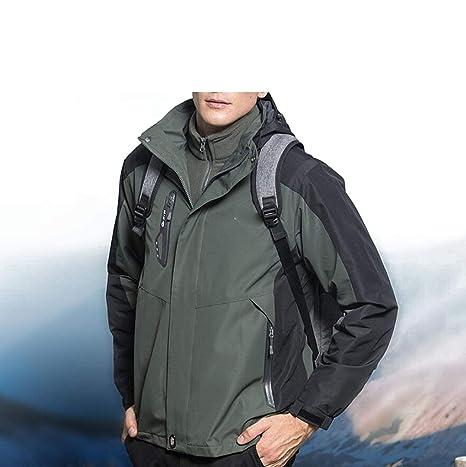 LNYF-OV Chaqueta al Aire Libre de Invierno de los Hombres Viajes de esquí Abrigos