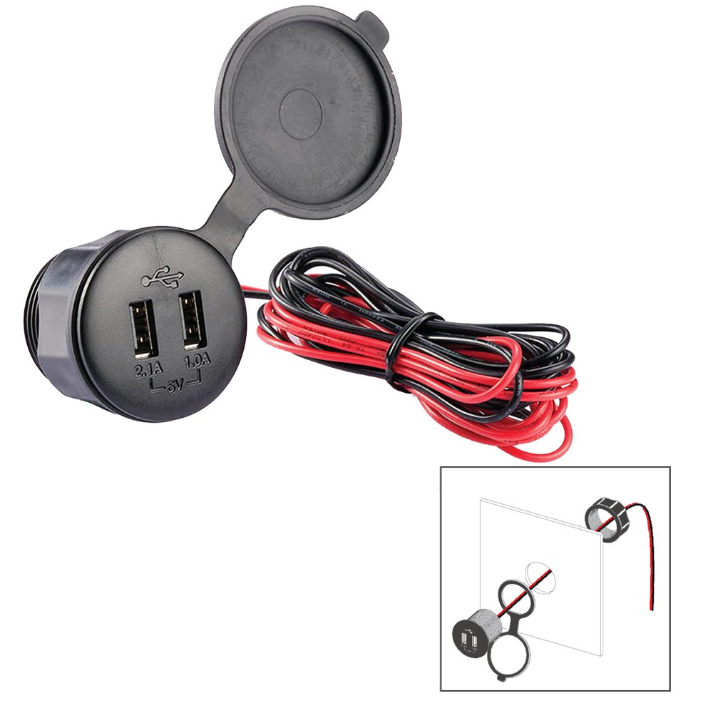 Popl Usb Pm Dual 12v Plug Two Way Radio Antennas Wiring A Polyplanar Sports Outdoors