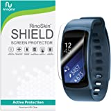 [8-PACK] RinoGear for Samsung Gear Fit2 Screen Protector [Active Protection] Gear Fit 2 Flexible HD Invisible Clear Shield Anti-Bubble Film