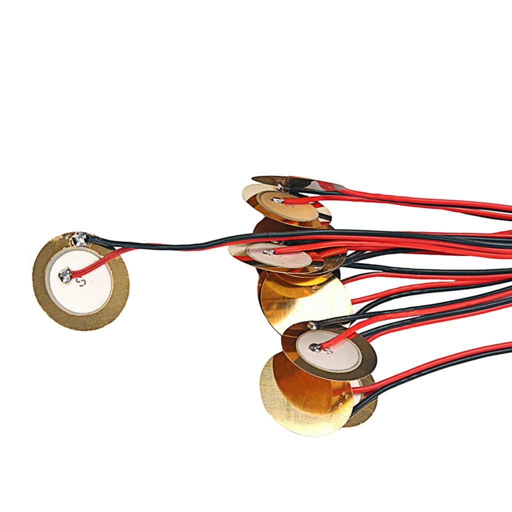 27-mm-Piezo-Scheibenelemente mit 48-cm-Anschlüssen für