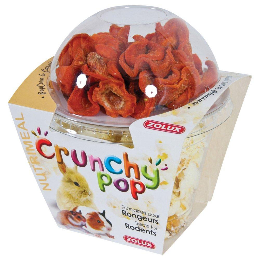 Friandises pour rongeurs CRUNCHY POP CAROTTE 43G Pop corn et carottes. Zolux