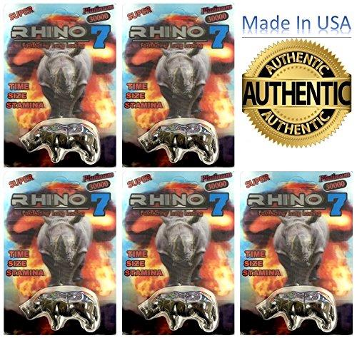 Rhino 7 30000 Male Enhancement 5 Pills (Silver 5) (Rhino Silver)