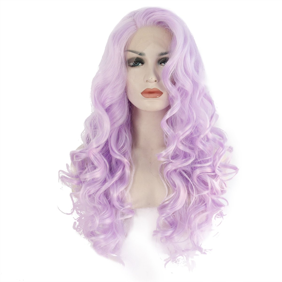 Amazon.com   Ebingoo Long Body Wave Purple Lace Front Wig Synthetic For White  Women 24inch   Beauty 3d5a9b7860