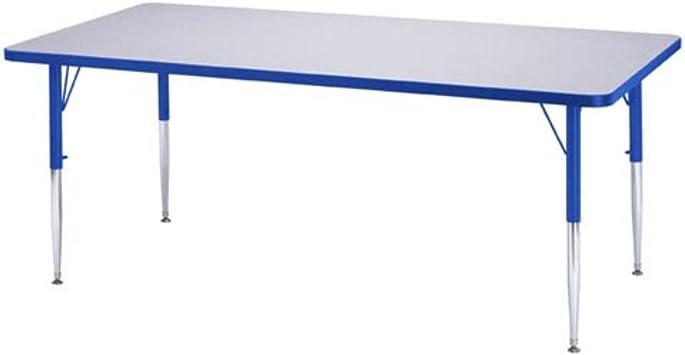 Amazon Com Jonti Craft Rectangular Activity Table Elementary 24 X 36 X 15 24 In H Purple Furniture Decor