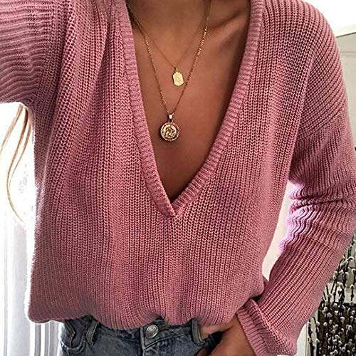 Bear Shirt and Automne T Top Sweater Pullover Blouse Cebbay Hiver Chemise Pull Longue Rose Manche Manteau Haut Sweatshirt Boho Chaud Loose Sweat Cardigan Femme HSPHq7w08