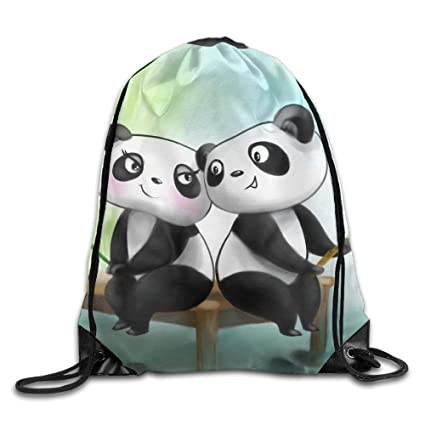 Amazon.com  Drawstring Bag Gym Bag Travel Backpack Romantic Panda Couple  Travel Drawstring Bags for Teen Kids 16.9x14.2  Computers   Accessories 51a7659e181fc