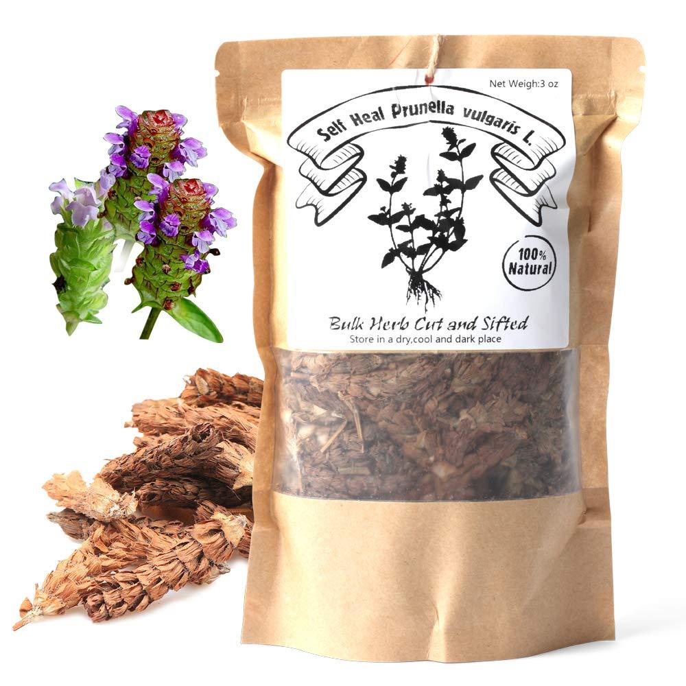 EidolonGreen [China Medicinal Herb] Wild Prunella Spike Dried, Self Heal Prunella vulgaris L,Bulk(Loose) Herb Cut and Sifted,(xia ku cao / 夏枯草 ) Natural 100% Health Tea (88g/3 oz)