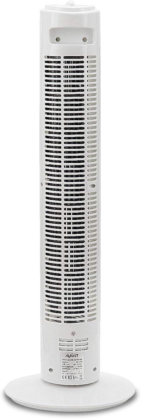 AVANT - Ventilador de Torre Oscilante, 74 Cm, 50W, 3 Velocidades ...