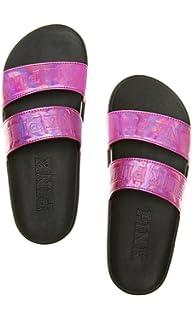 e0d1b7cae3d8f Amazon.com: Victoria's Secret PINK Crossover Comfort Slide Sandals ...