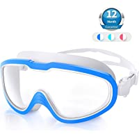 Swimming Goggles, Anti Fog UV protection lenses Swim Goggles No Leaking Snorkeling Gear Easy to Adjust for Beginner…