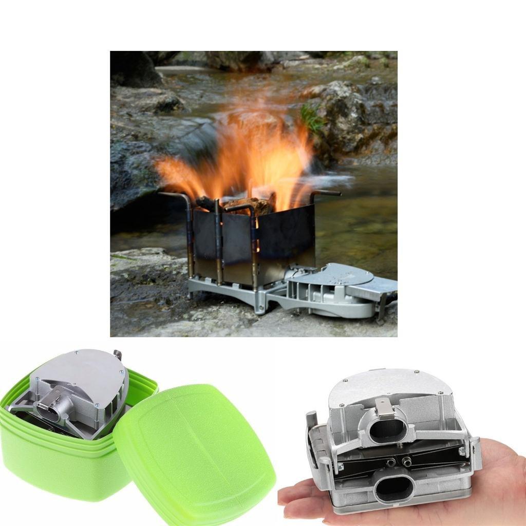 Toygogo Po/êle /à Bois Camping en Aluminium R/échauds Portable avec Soufflante dair