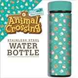 Animal Crossing, Teal Icons Vacuum Insulated Stainless Steel Sport Water Bottle, Leak Proof, Wide Mouth, 17 oz, 500 ML
