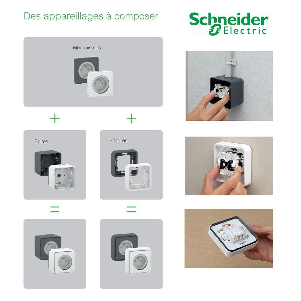 /Switch Gris Schneider electric mur37021/