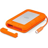 LaCie Rugged Thunderbolt, 1 TB, draagbare externe harde schijf voor Mac, 2,5 inch, Thunderbolt, USB 3.0, Mac, PC