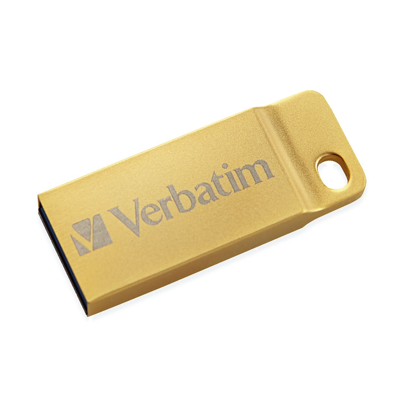 Verbatim 64GB Metal Executive USB 3.0 Flash Drive, Gold 99106