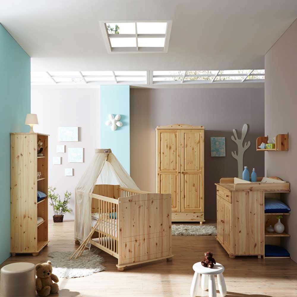 Komplett Babyzimmer aus Kiefer komplett (5-teilig) Pharao24