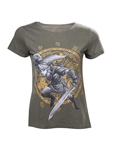 Nintendo Legend Zelda - Woman'S Link At The Gate of Time T-Shirt, Camiseta para Mujer