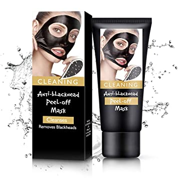 Amazon.com : Black Mask Blackhead Remover Mask,Charcoal Face Mask For Face, Acne, Oily Skin And Blackheads, Peel Off Mask With Organic Activated ...