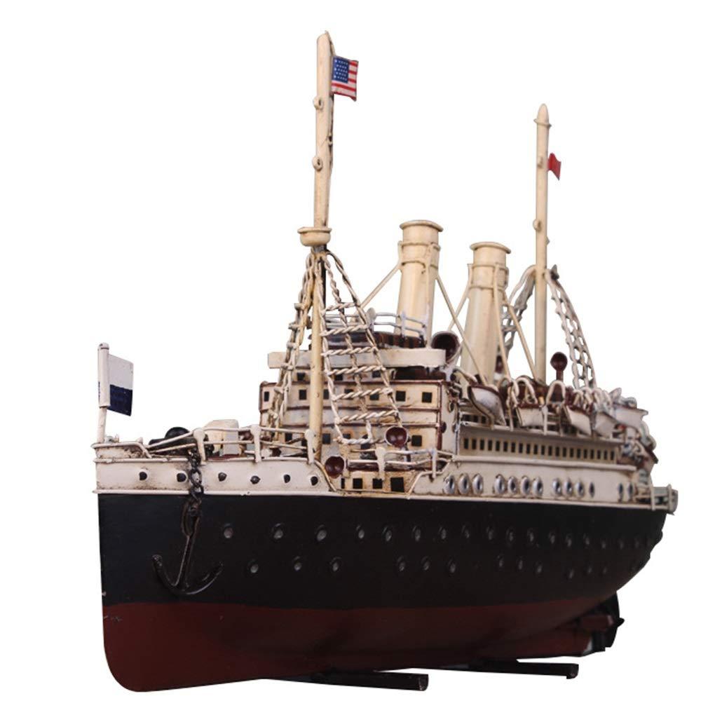 ventas en linea LIULAOHAN Metal Ocean Warship Warship Warship Model, Juguetes de Estilo Retro, Bar   Hogar   Decoración navideña, Regalos navideños, Accesorios de fotografía  mejor marca