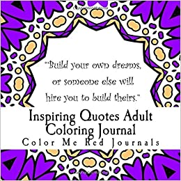 Amazon Com Inspiring Quotes Adult Coloring Journal For Stress