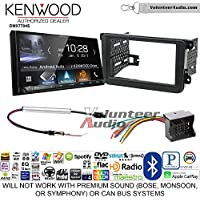 Kenwood DMX7704S Double Din Radio Install Kit with Apple CarPlay Android Auto Bluetooth Fits 2012-2013 Volkswagen Beetle, 2010-2013 Golf, 2006-2013 Jetta