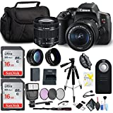 Canon EOS Rebel T6i DSLR Camera 18-55mm Lens, Two Memory Cards, Flash Deluxe Cleaning Kit