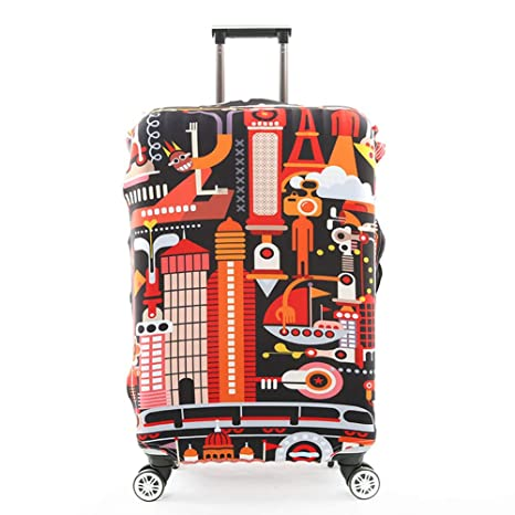 Spring Garden House Beautiful Painting suitcase cover elastic suitcase cover zipper luggage case removable cleaning suitable for 29-32 trunk cover