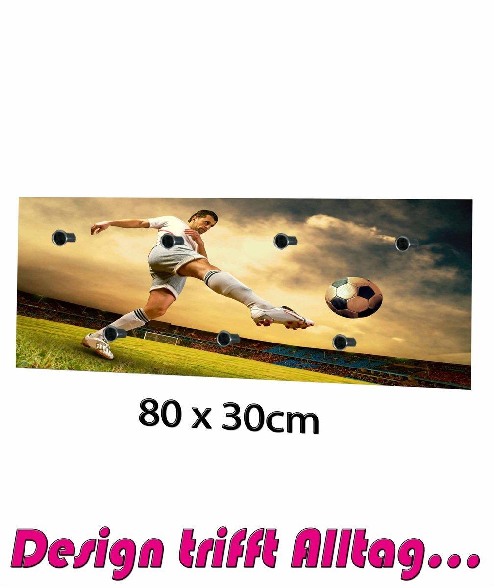 Perchero blanco diseño de fútbol jugador Chaquetas gancho de: Amazon.es: Hogar