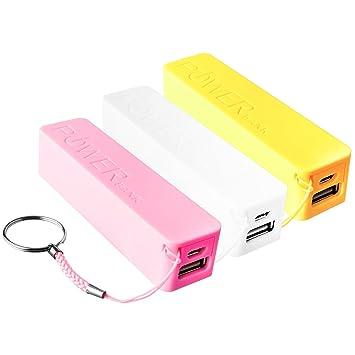 3 x Power Bank Batería 2600 Mah Cargador Externo USB para ...