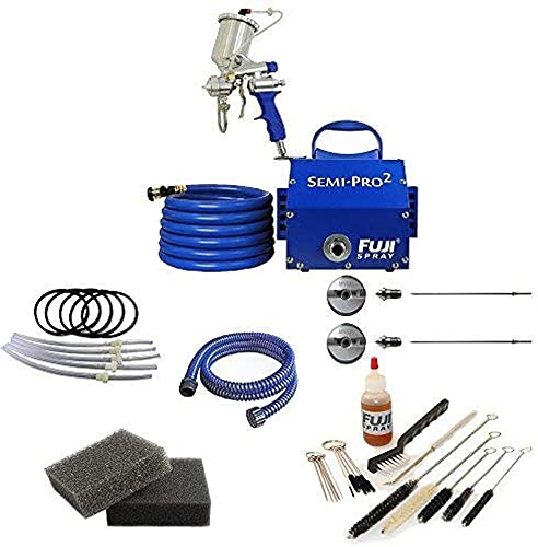 Fuji Spray Semi-PRO 2 Gravity HVLP Spray System with Pro Accessory Bundle 7 Items