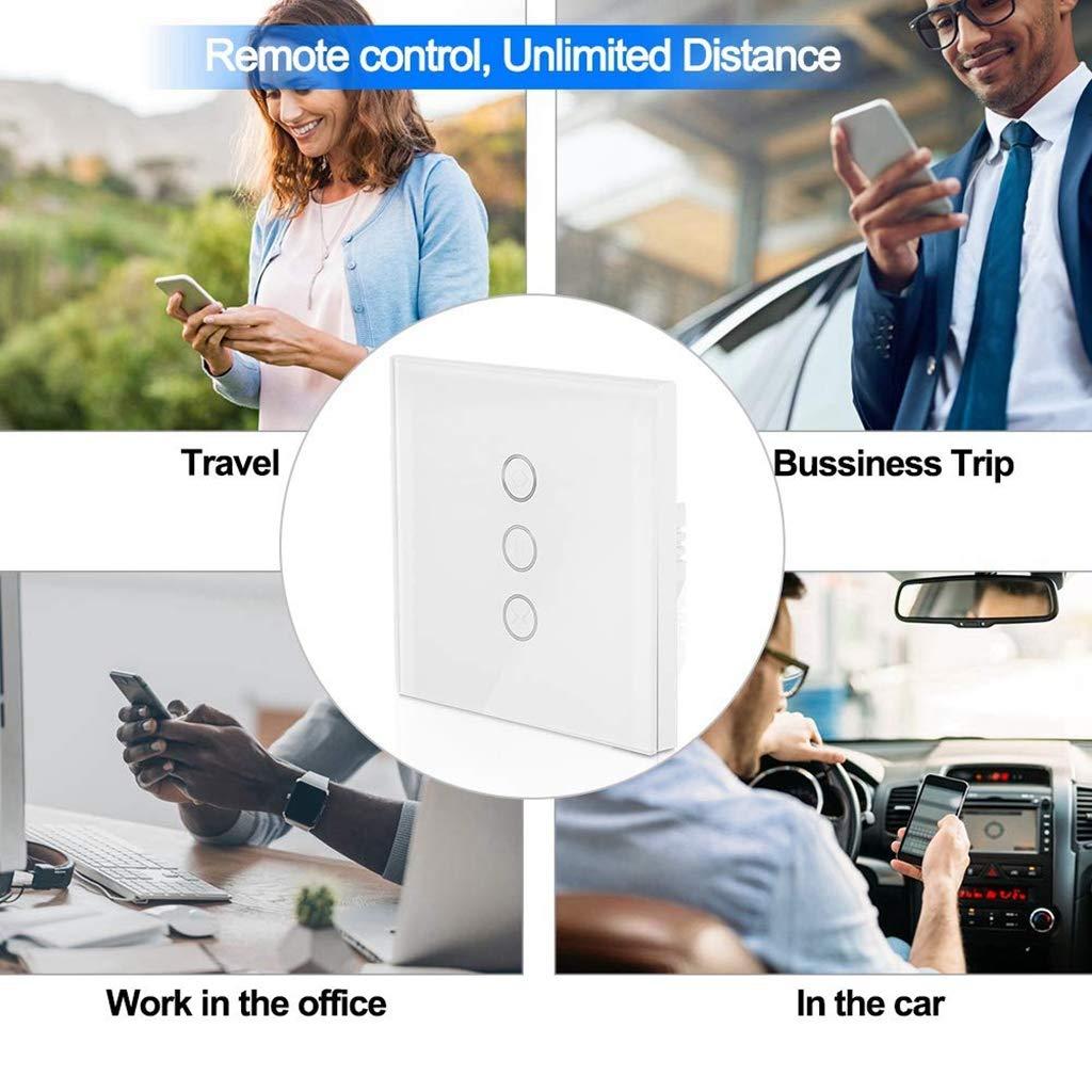 Interruptor Persiana WiFi MuZhuo WiFi Smart Timer del temporizador del interruptor de balanceo Compatible con Alexa Echo//Google Home Interruptor del obturador aplicable Motor