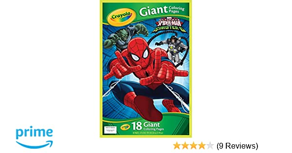 Amazon Com Crayola Marvel Spiderman Giant Coloring Pages Toys Games