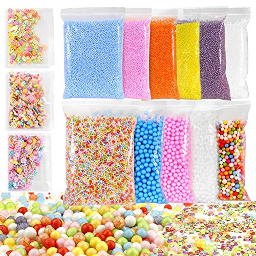 Kanzd colorful Styrofoam Foam Balls Slime Tool Fruit Slice For Slime Making Art DIY (A) ()